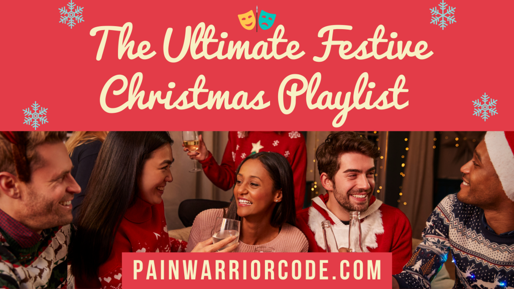 Blog banner of the title 'The Ultimate Festive Christmas Playlist'